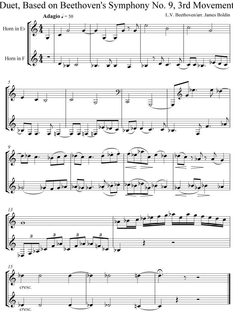 All Music Chords beethoven s 5th sheet music : Orchestral Playing – James Boldin's Horn World