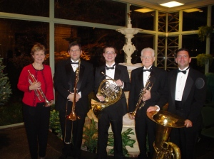 Chamber Arts Brass Quintet: Marilynn Gibson, Micah Everett, James Boldin, Jack White, Myron Turner